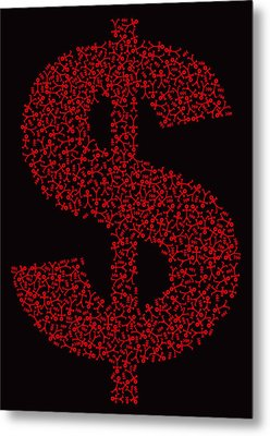 Dollar People Icon Metal Print by Thisisnotme