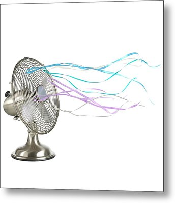 Domestic Fan Showing Air Movement Metal Print by Science Photo Library