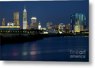 Downtown Indianapolis Indiana Metal Print by Anthony Totah