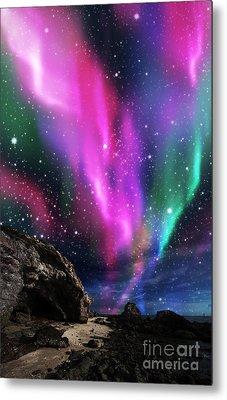 Dramatic Aurora Metal Print by Atiketta Sangasaeng