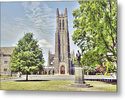 Duke Chapel In Spring Metal Print by Emily Kay