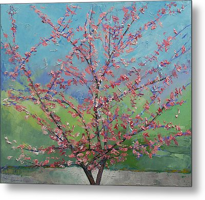Eastern Redbud Tree Metal Print by Michael Creese