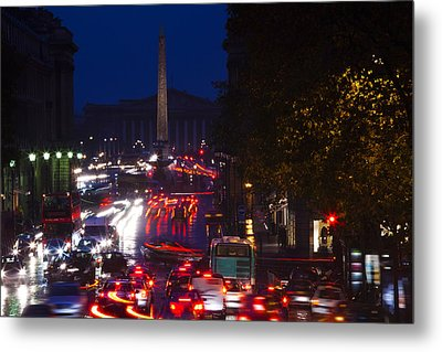 Elevated View Of Traffic On The Road Metal Print by Panoramic Images