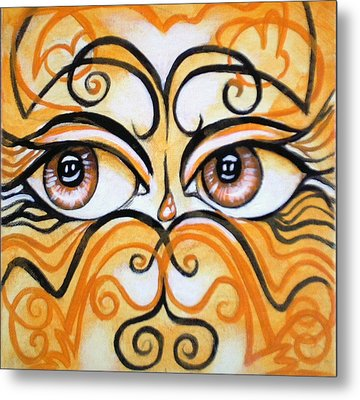 Eyes Of Color Metal Print by Annette Jimerson