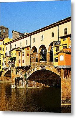 Florence Italy Ponte Vecchio Metal Print by Irina Sztukowski
