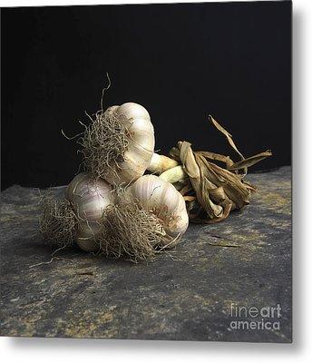 Garlic Metal Print by Bernard Jaubert