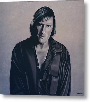 Gerard Depardieu Painting Metal Print by Paul Meijering