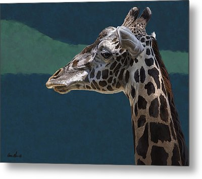 Giraffe Metal Print by Aaron Blaise