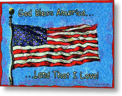 God Bless America  Metal Print by Barbara Snyder