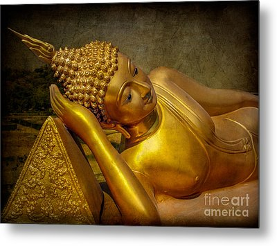 Golden Buddha Metal Print by Adrian Evans
