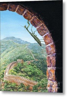 Great Wall Mantis Metal Print by Lynette Cook