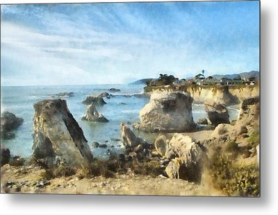 Hazy Lazy Day Pismo Beach California Metal Print by Barbara Snyder