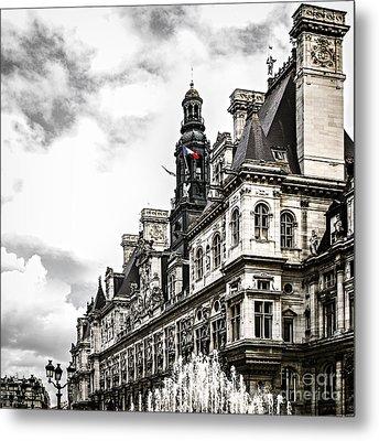 Hotel De Ville In Paris Metal Print by Elena Elisseeva
