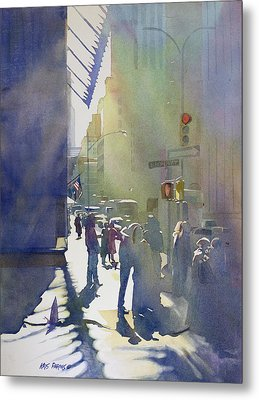 I Saw The Light At 44th And Broadway Metal Print by Kris Parins