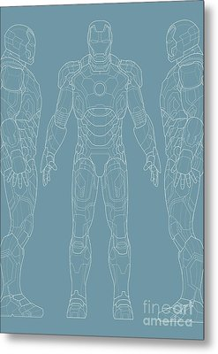 Iron Man Metal Print by Caio Caldas