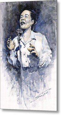 Jazz Billie Holiday Lady Sings The Blues  Metal Print by Yuriy  Shevchuk