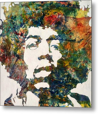 Metal Print featuring the painting Jimi by Pasquale Di maso