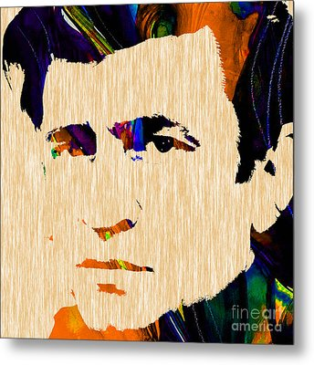Johnny Cash Collection Metal Print by Marvin Blaine