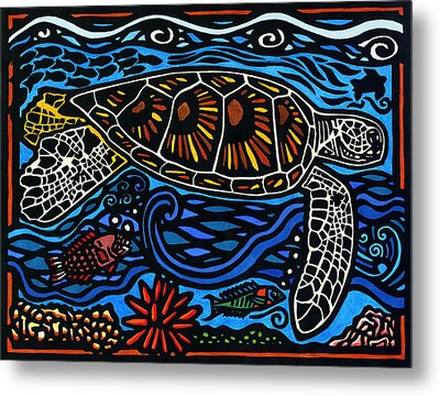 Kahaluu Honu Metal Print by Lisa Greig