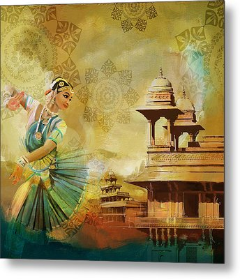Kathak Dancer Metal Print by Catf