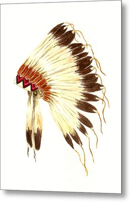 Lakota Headdress Metal Print by Michael Vigliotti