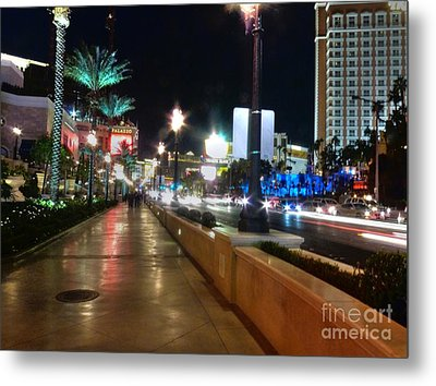 Leaving Las Vegas Metal Print by David Bearden