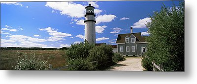 Lighthouse In The Field, Highland Metal Print by Panoramic Images