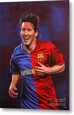 Lionel Messi  Metal Print by Paul Meijering