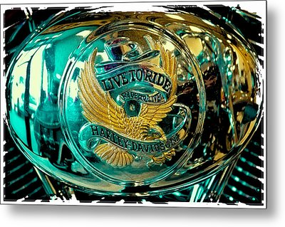 Live To Ride - Ride To Live Metal Print by David Patterson