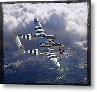 Lockheed P-38 Lightning Metal Print by Larry McManus
