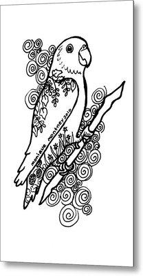 Lovebird Metal Print by Monique Montney