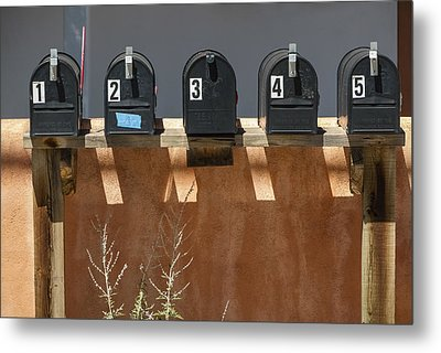 Mailboxes Santa Fe Nm Metal Print by David Litschel