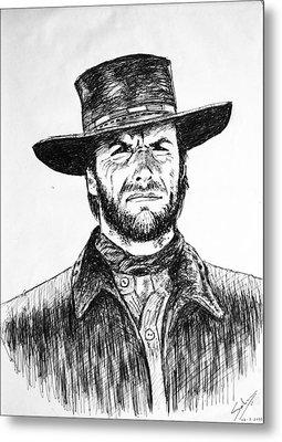Clint Eastwood Metal Print by Salman Ravish