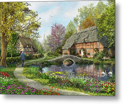 Meadow Cottage Metal Print by Dominic Davison