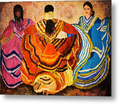 Mexican Fiesta Metal Print by Sushobha Jenner