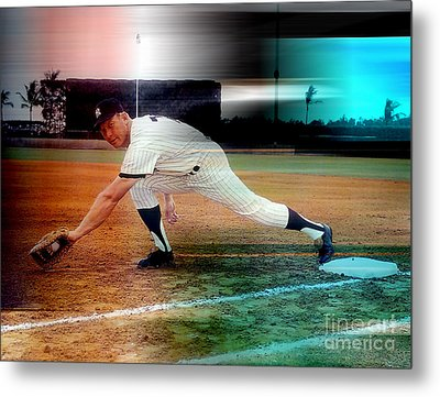 Mickey Mantle Metal Print by Marvin Blaine