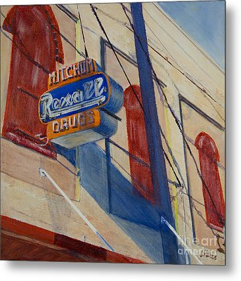 Mitchum's Drug Store Metal Print by Janet Felts