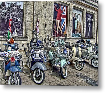 Mod Scooters And 60s Fashion Metal Print by Jasna Buncic