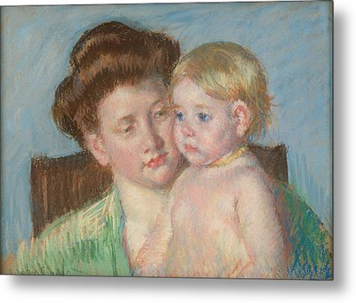 Mother And Child Metal Print by Celestial Images