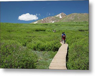 Mount Bierstadt Hiking Trail Metal Print by Jim West
