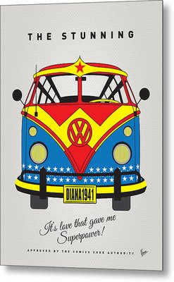 My Superhero-vw-t1-wonder Woman Metal Print by Chungkong Art