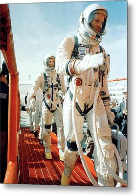 Neil Armstrong And David R. Scott In 1966 Metal Print by Nasa