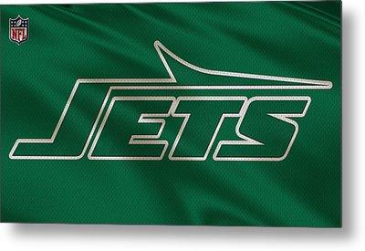 New York Jets Uniform Metal Print by Joe Hamilton