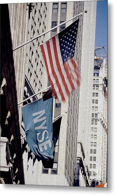 New York Stock Exchange Metal Print by Jon Neidert