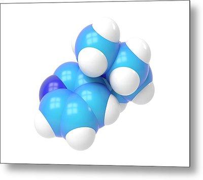 Nicotine Molecule Metal Print by Indigo Molecular Images