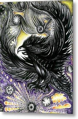 Night Hawk Spirit Bird Metal Print by Adam Boshart