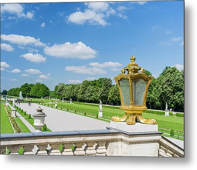 Nymphenburg Palace And Park In Munich Metal Print by Martin Zwick