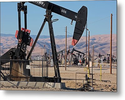 Oil Production Metal Print by Jim West