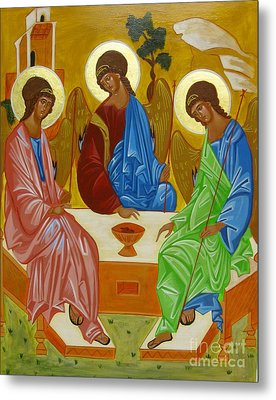 Old Testament Trinity Metal Print by Joseph Malham