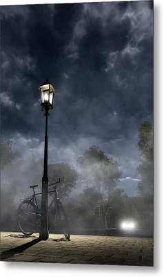 Ominous Avenue Metal Print by Cynthia Decker